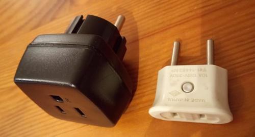 日本電化製品用ドイツのコンセント用アダプター